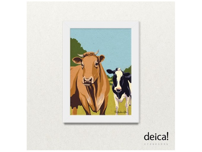 "Lámina A4 ""Vacas"""