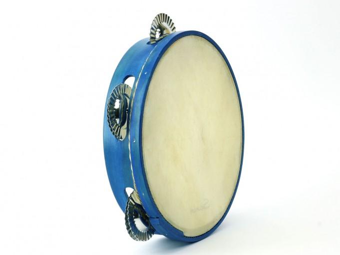 Pandereta Color 5S Azul Royal