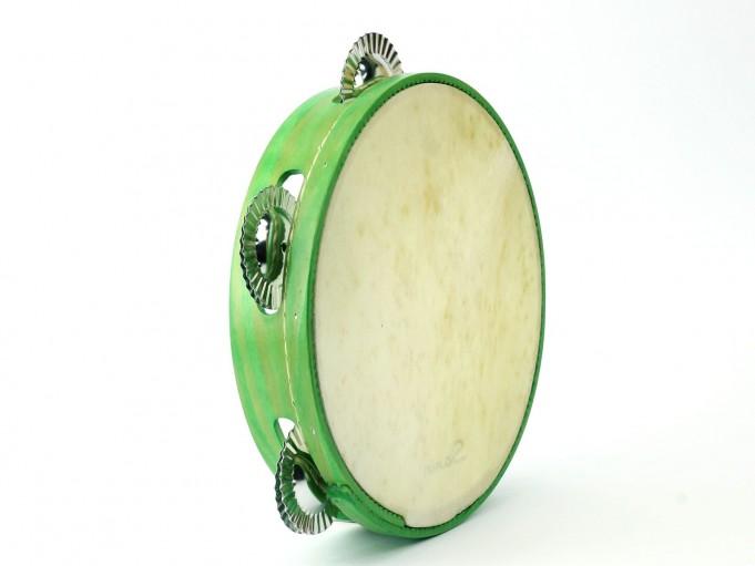 Pandereta Color 5S Verde claro