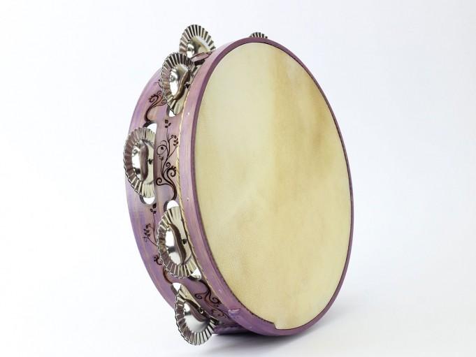 Pandereta Floral color violeta pálido