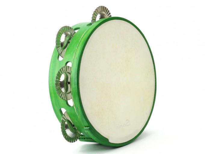 Pandereta color 7S verde claro