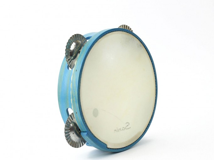 Pandereta Color 4S azul claro
