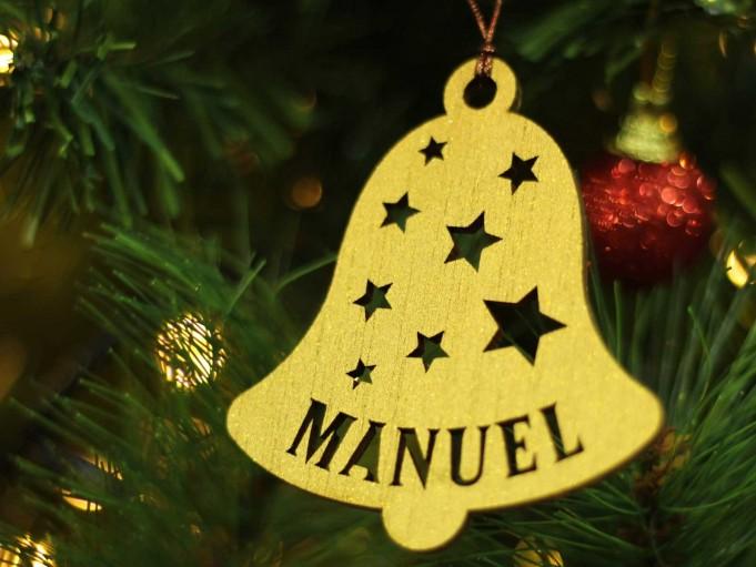 Adorno campana Navidad - Manuel