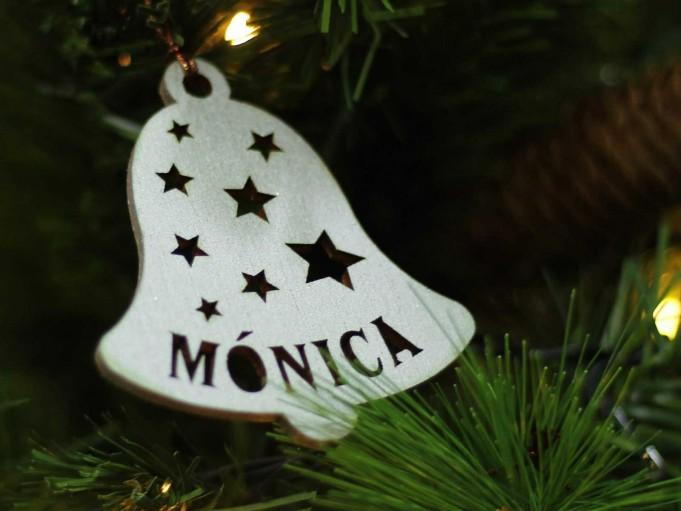 Adorno campana Navidad - Mónica