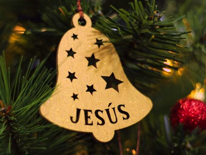 Adorno campana Navidad - Jesús