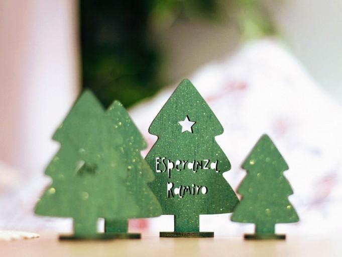 Adorno arbolito grande verde estrella