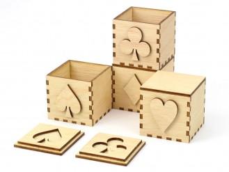 Kajhuchä Q-Box Poker en zig-zag y apilado 1x2x1