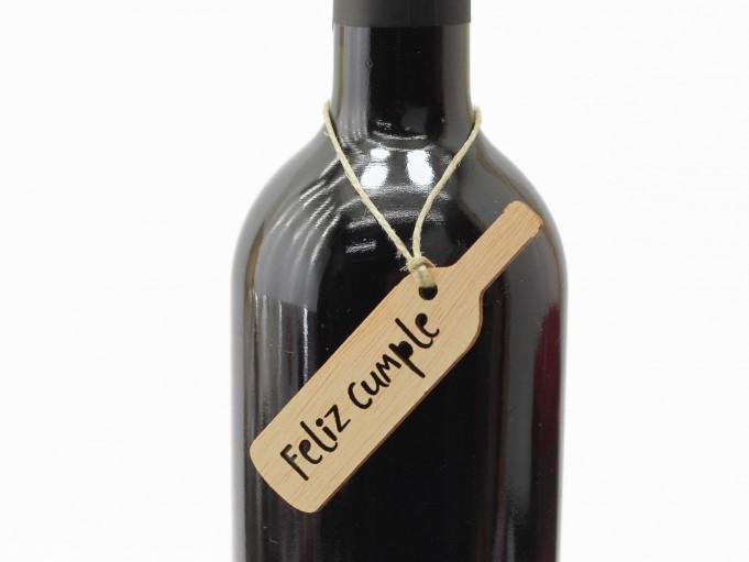 Etiqueta botella con mensaje - Feliz cumple