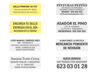 Ejemplos de sello Printer 30 TXT