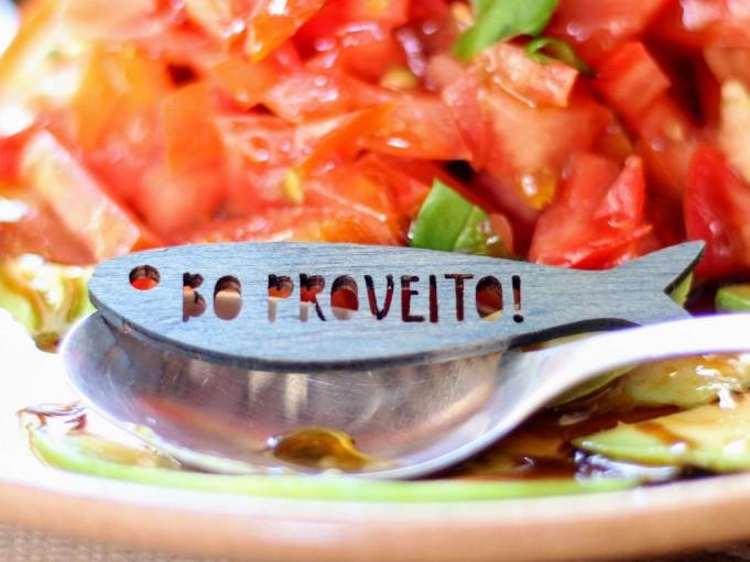 Etiqueta sardina con mensaje - gris azulado - BO PROVEITO!