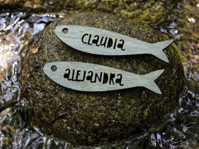 Etiqueta sardina - gris azulado - CLAUDIA Y ALEJANDRA