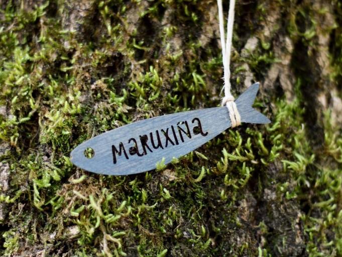 Etiqueta sardina - gris azulado - MARUXIÑA