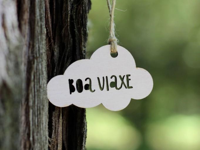Etiqueta nube color blanco - BOA VIAXE