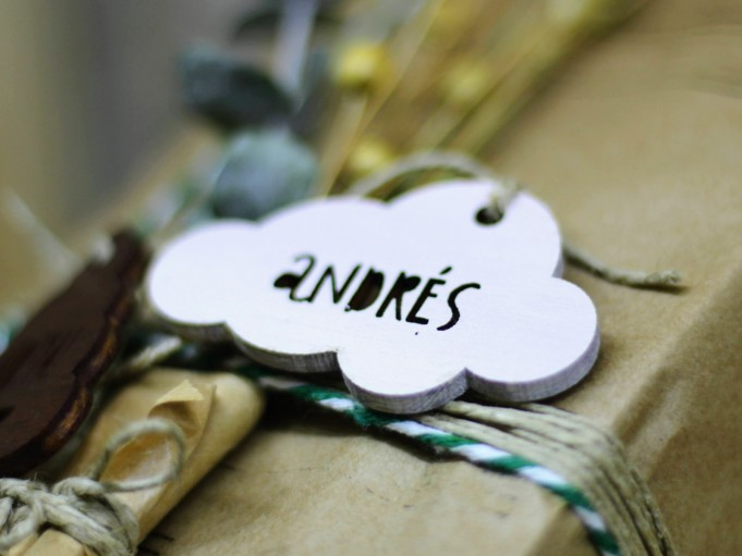 Etiqueta nube blanca - Andrés