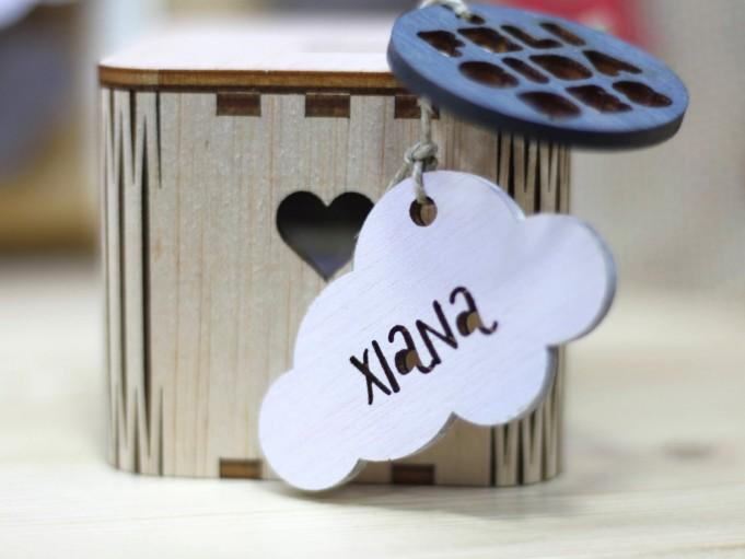 Etiqueta nube blanca - Xiana