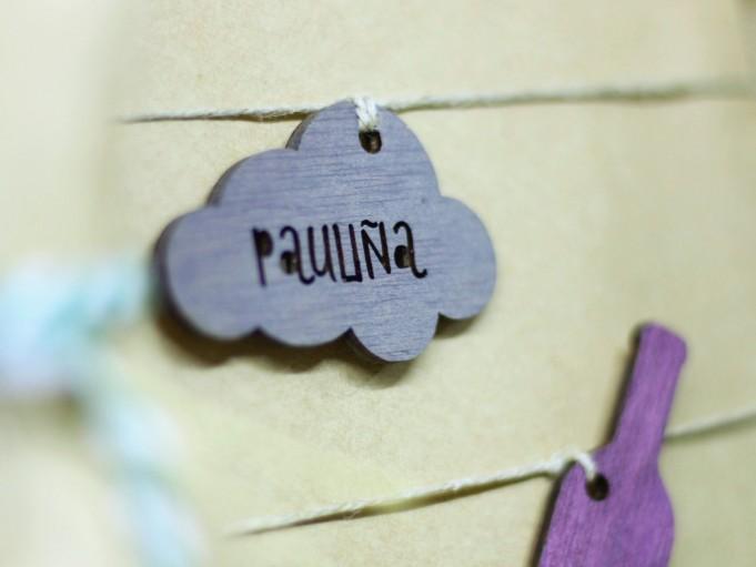 Etiqueta nube gris - Pauliña
