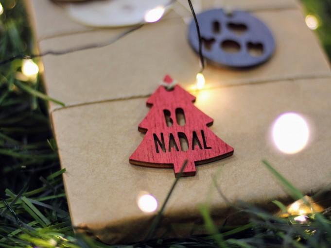 Etiqueta arbolito rojo - BO NADAL