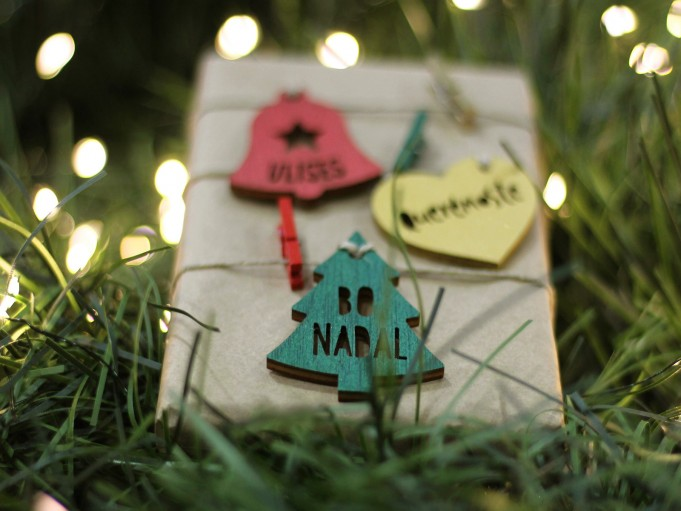 Etiqueta arbolito verde - BO NADAL