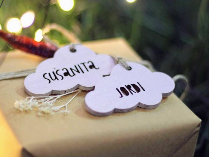Etiqueta nube blanca - Susanita y Jordi