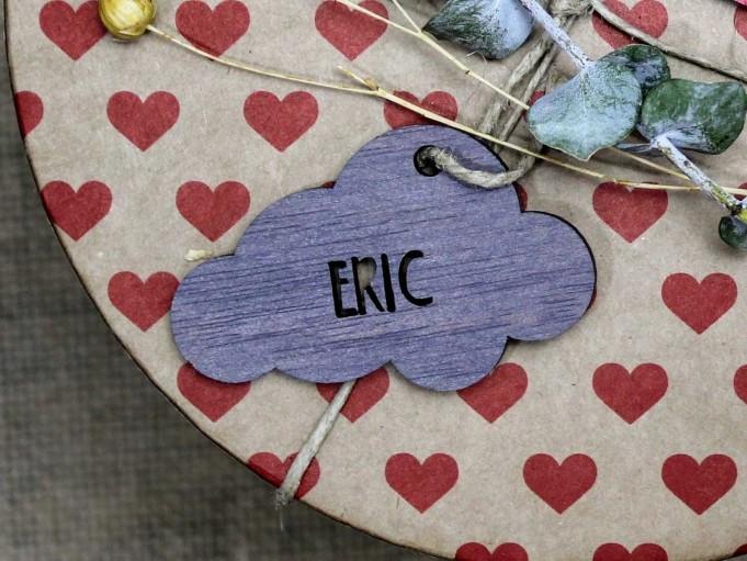 Etiqueta nube gris - Eric