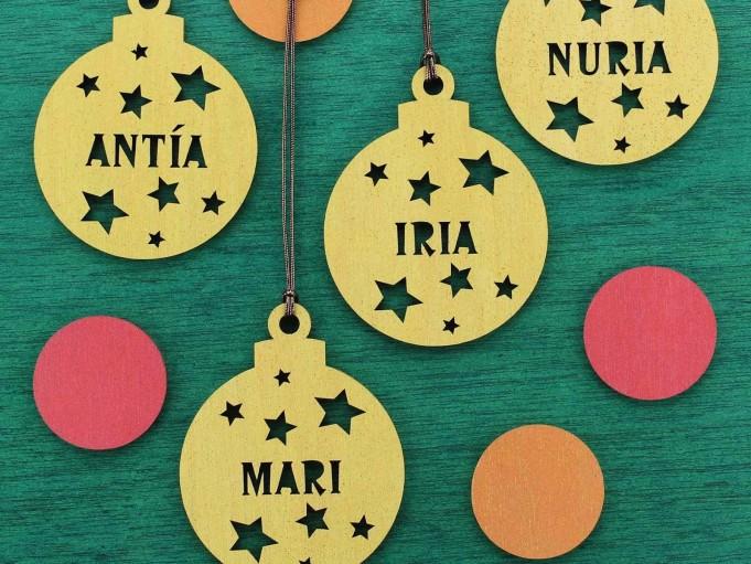 Bola Navidad - Varios dorado