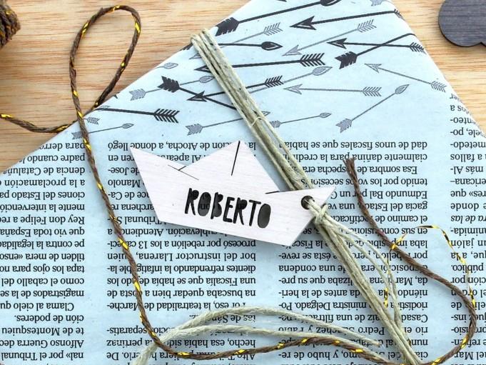 Etiqueta barquito - Roberto