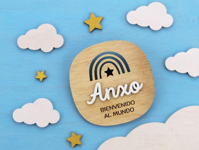 Cartelito bienvenida - Anxo
