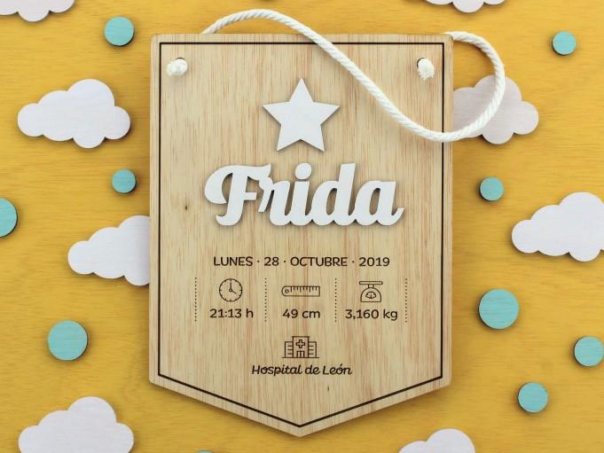 Banderín natalicio - Frida