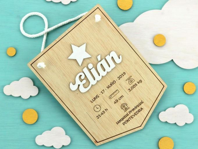 Banderín natalicio - Elián