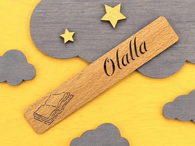 Marcapáginas libro - haya - Olalla