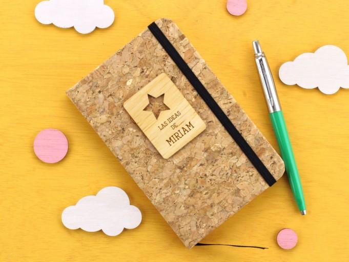Cuadernito de corcho con estrella - Miriam
