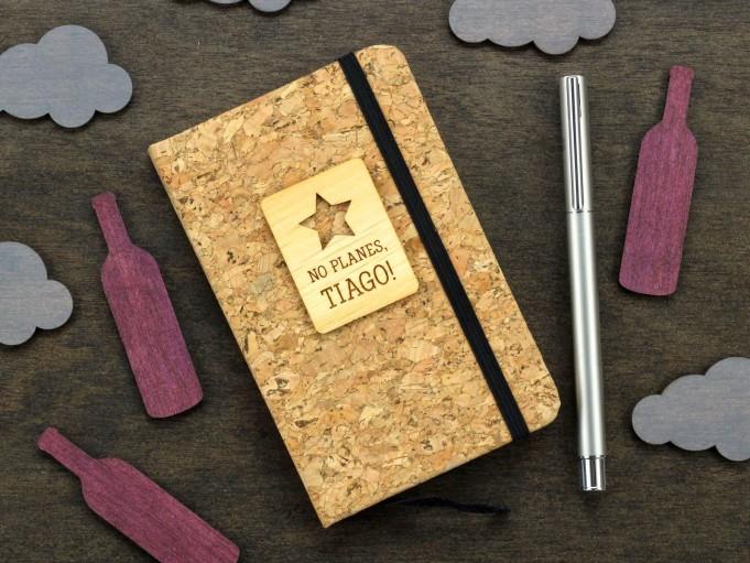 Cuadernito de corcho con estrella - Tiago