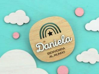 Cartelito bienvenida - Daniela