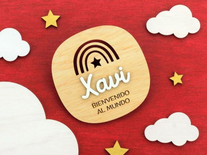 Cartelito bienvenida - Xavi