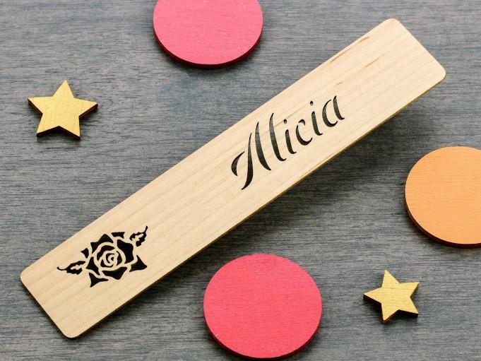 Marcapáginas Rosa 1 - Alicia