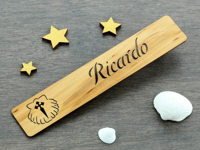 Marcapáginas Cruz de Santiago - Ricardo