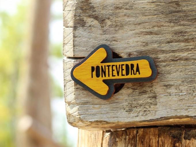 Imán flecha - gris azulado - Pontevedra