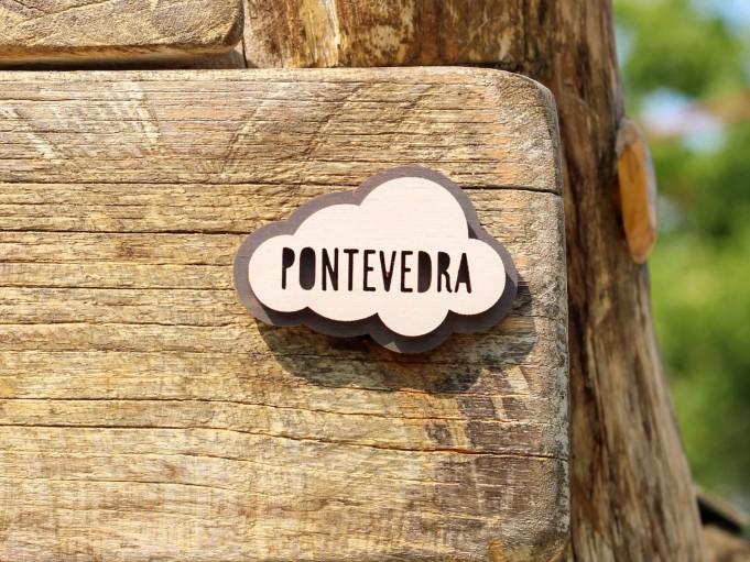 Imán nube - gris - Pontevedra
