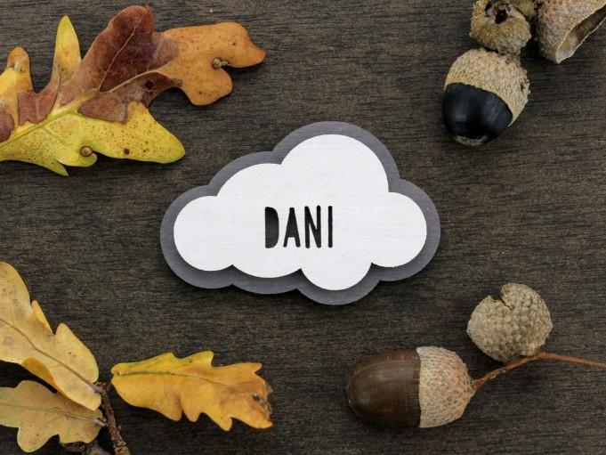 Imán nube - gris - Dani