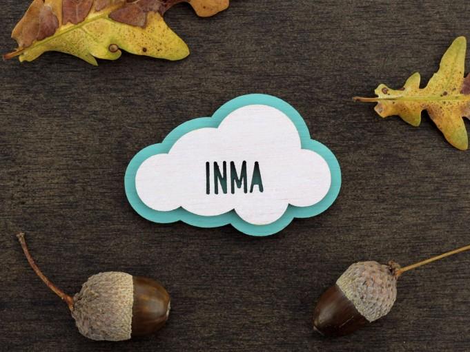 Imán nube - menta - Inma