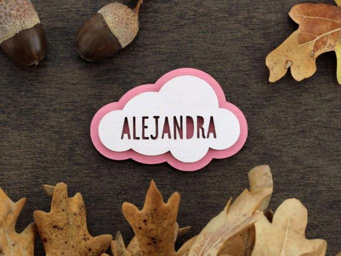 Imán nube - rosa - Alejandra
