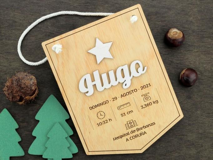 Banderín natalicio - Hugo