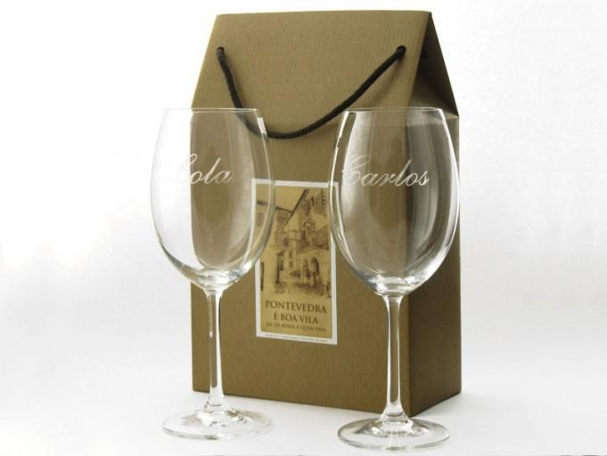 2 copas Borgoña 580 ml. en cajita regalo