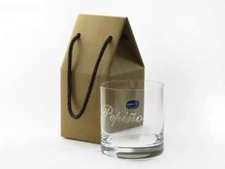 Vaso whisky 410 ml. en cajita regalo