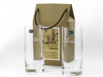 2 vasos whisky 470 ml. en cajita regalo