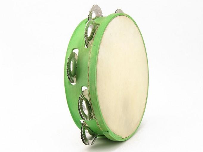 Pandereta de 9 color verde claro