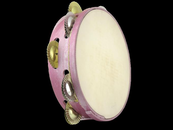 Pandereta color 9S rosa nacarado