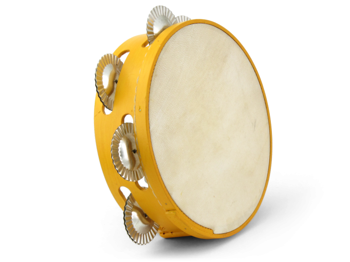 Pandereta color 7S amarillo
